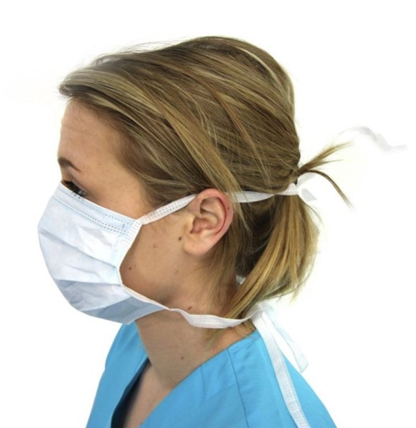 Image of Type IIR surgical masks CE approved breathable tie masks
